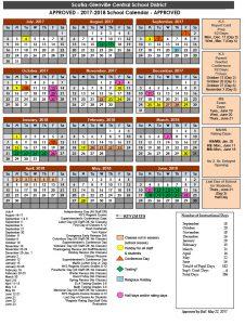 Official BOE approved calendar
