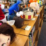 Colorful pumpkins line the shelves in the LMC