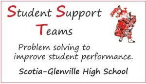 """Graphic about Student Support Teams saying that SST is """"problem solving to improve student performance."""""""