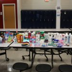 Toiletries and other items collected during the event